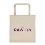 Kiss Me I'm Raw-ish Cotton Canvas Tote bag - Thrive Any Way