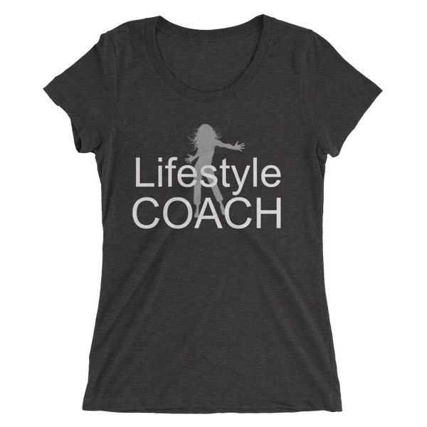 Lifestyle Coach with Lady - Ladies' short sleeve t-shirt - Thrive Any Way