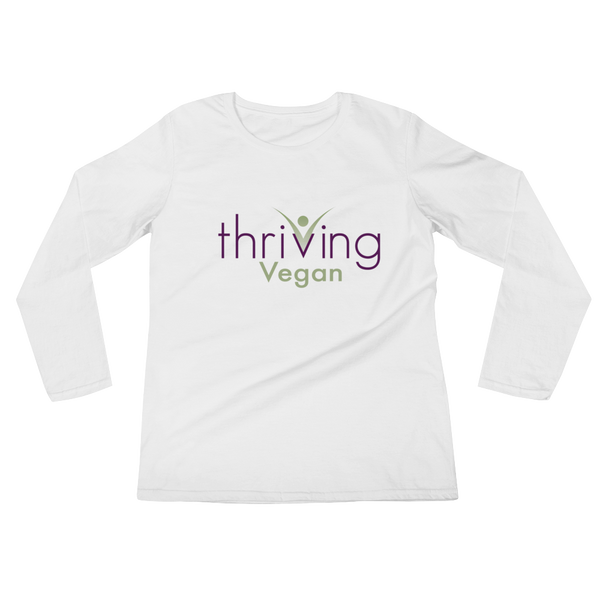 Thriving Vegan, Ladies' Long Sleeve T-Shirt - Thrive Any Way