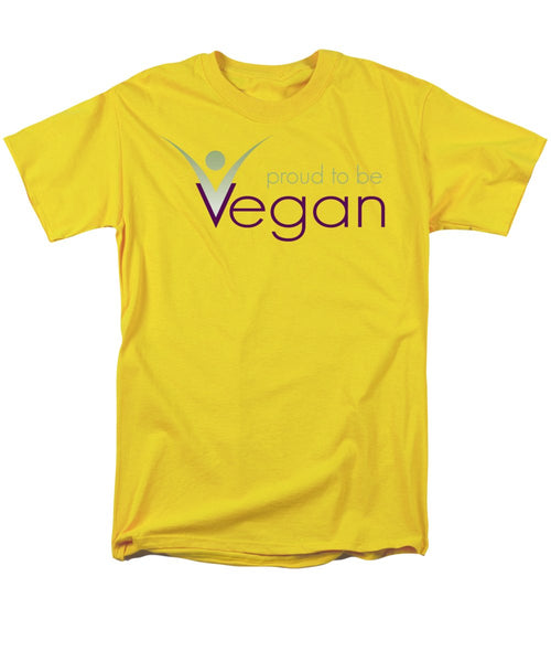 Proud To Be Vegan - Men's T-Shirt  (Regular Fit) - Thrive Any Way