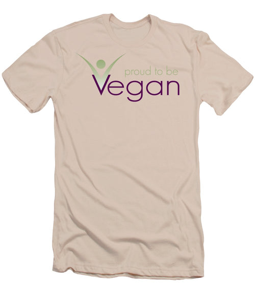 Proud To Be Vegan - Men's T-Shirt (Athletic Fit) - Thrive Any Way