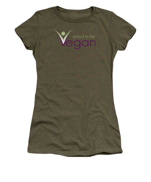 Proud To Be Vegan - Women's T-Shirt (Athletic Fit) - Thrive Any Way