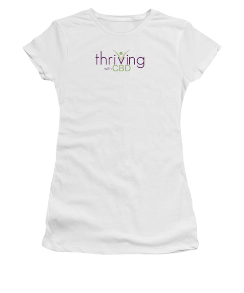 Thriving With CBD - Women's T-Shirt (Athletic Fit)