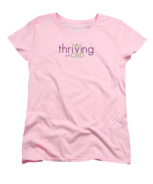 Thriving With CBD - Women's T-Shirt (Standard Fit) - Thrive Any Way
