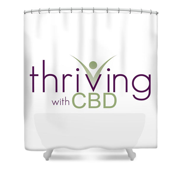 Thriving With CBD - Shower Curtain
