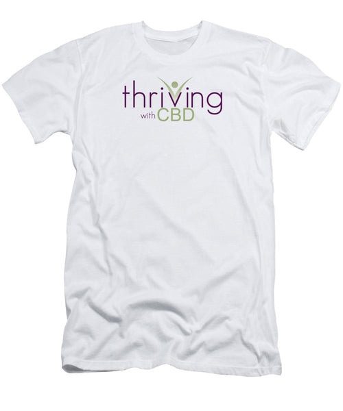 Thriving With CBD - Men's T-Shirt (Athletic Fit)