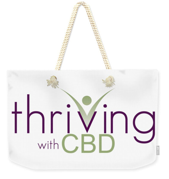 Thriving With CBD - Weekender Tote Bag - Thrive Any Way