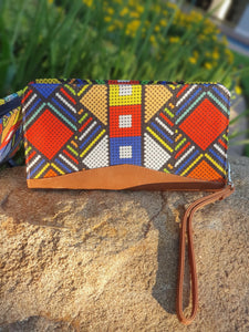 Tan Travel Zipper Pouch