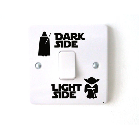 Dark Side - Light Side - Vinyl Switch Sticker
