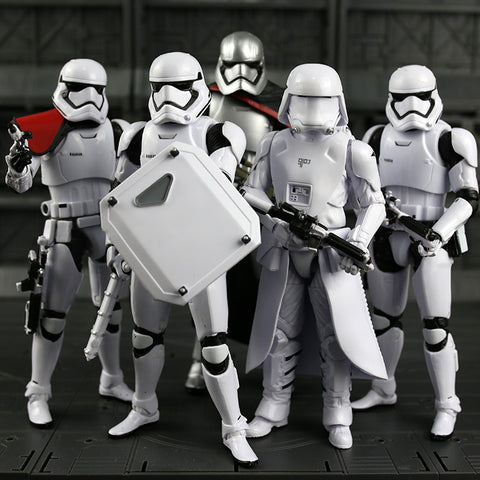First Order Troopers - Collectible Figure - Captain Phasma / Sandtrooper / First Order Stormtrooper / Riot Control Stormtrooper