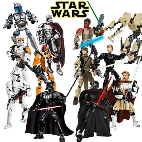 Star Wars -  Building Blocks Figure - Rey / Stormtrooper / Finn / Captain Phasma / General Grievous AND MANY OTHER