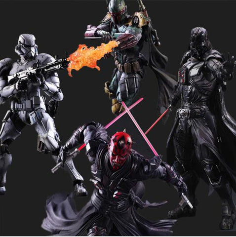 Star Wars - Collectible Action  Figure - Limited Edition - Darth Vader / Darth Maul / Boba Fett / Stormtrooper