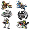 Star Wars - Building Brick Blocks Spaceships - Rebel/Empire