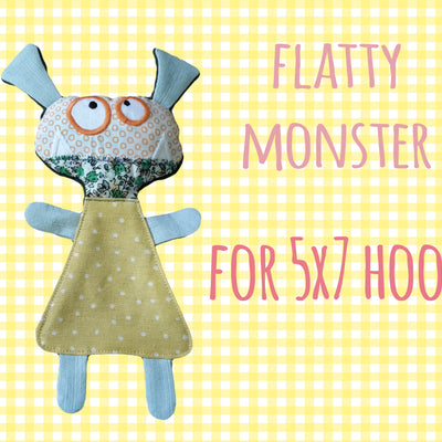 MONSTER soft toy, Baby Toy Blanket comfy, stuffed toy, stofie, ITH, In The Hoop, Machine Embroidery Design File, digital download millymellydesigns