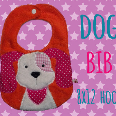 Doggy ITH bib Machine Embroidery Design File, digital download millymellydesigns