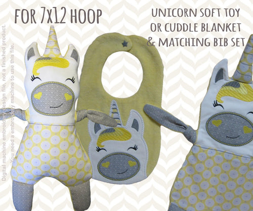 Unicorn matching set! Machine Embroidery Design Files, digital download millymellydesigns