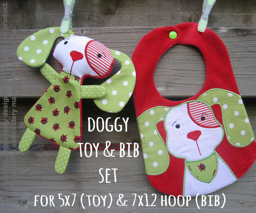 Doggy matching set! Machine Embroidery Design Files, digital download millymellydesigns