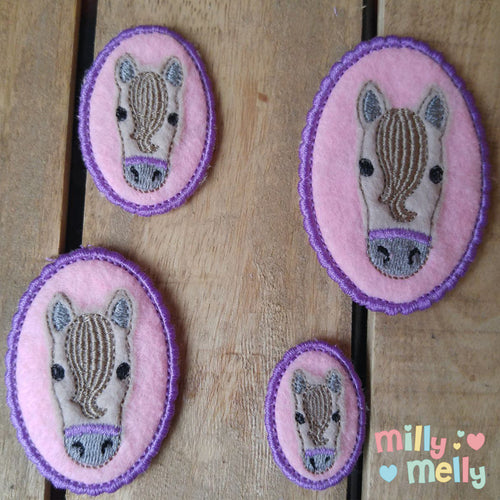 Horse head - feltie - Machine Embroidery Design File, digital download millymellydesigns