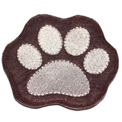 CO-001 - 4x4 hoop COASTER - Dog Paw - Machine Embroidery Design File, digital download millymellydesigns
