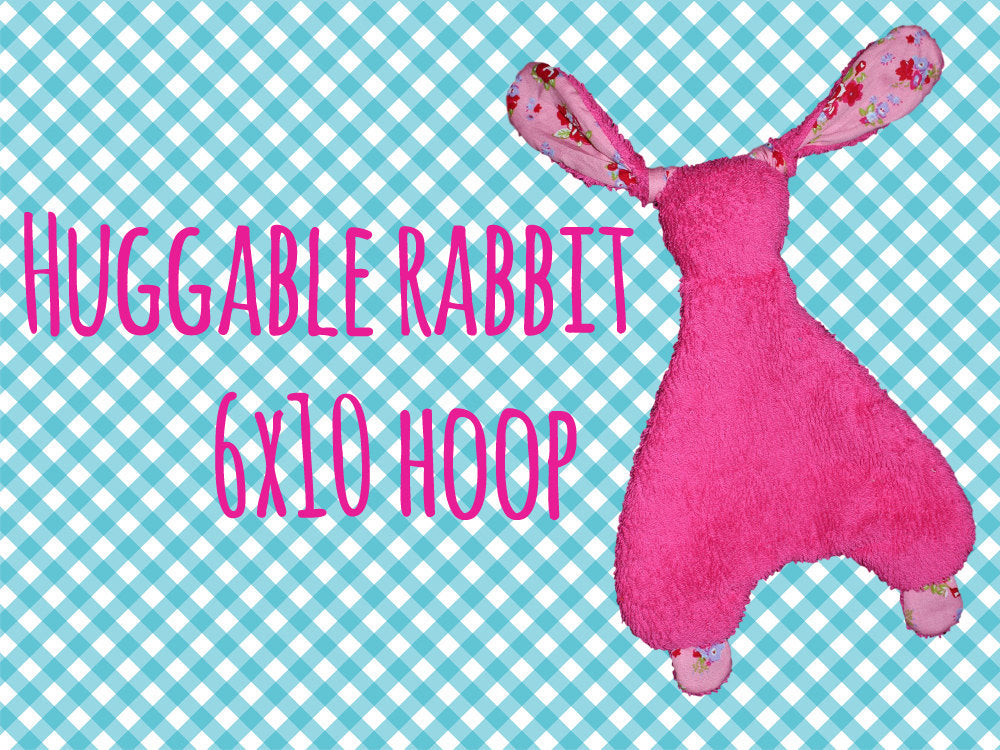 6x10 hoop - Rabbit Baby Toy  - Cute rabbit soft toys - In The Hoop - Machine Embroidery Design File, digital download millymellydesigns