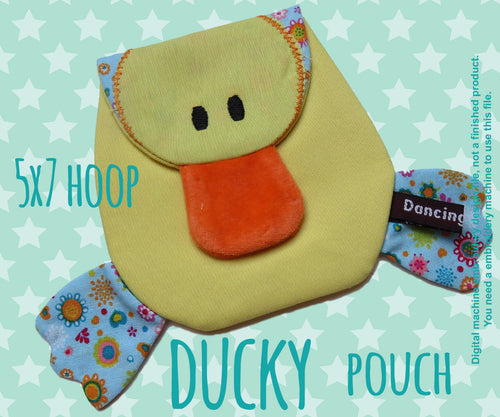 Little Ducky Pouch - 5x7 hoop - ITH - In The Hoop - Machine Embroidery Design File, digital download millymellydesigns