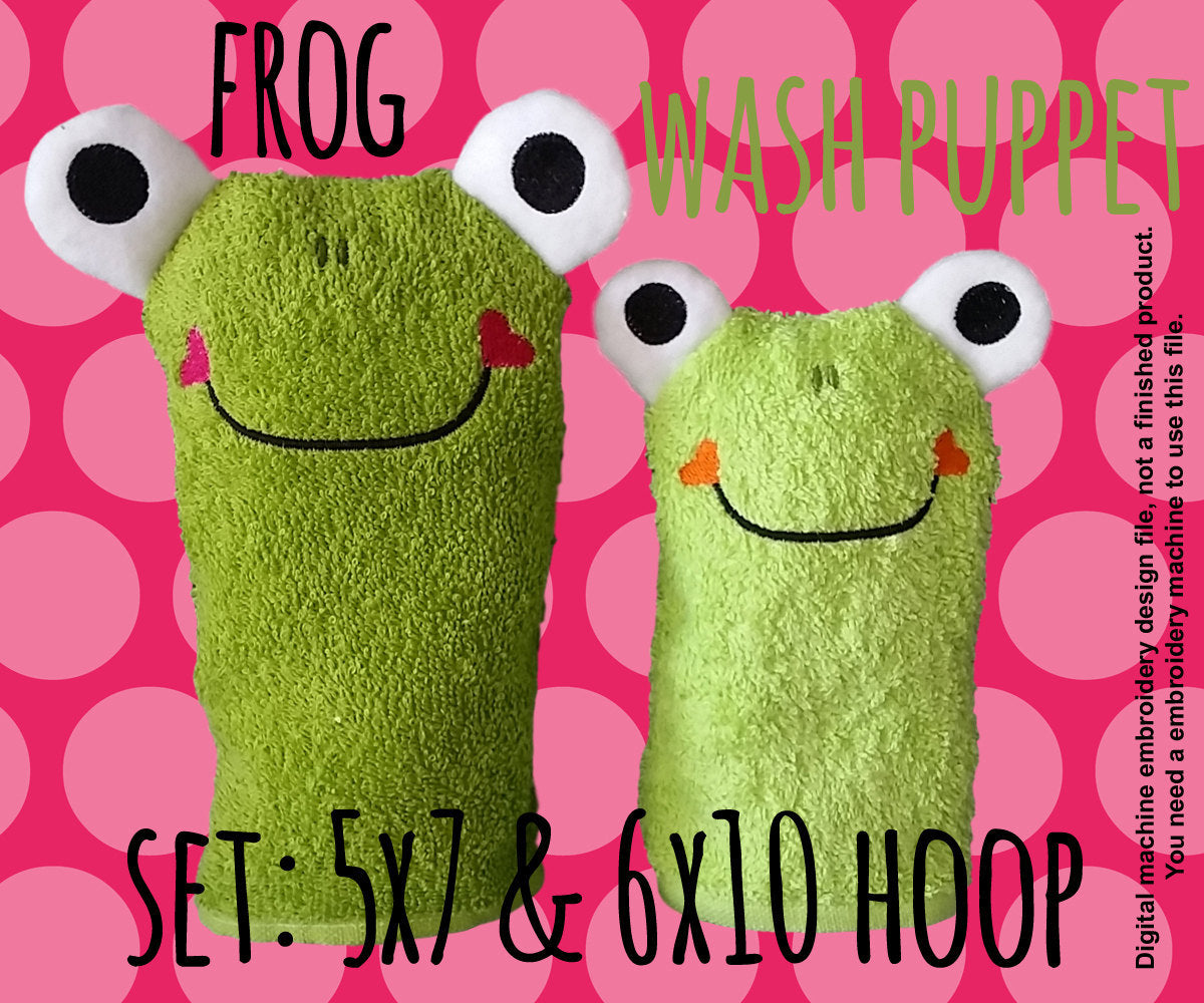 FROG SET 5x7 and 6x10 hoop - soft toy - ITH - In The Hoop - Machine Embroidery Design File, digital download millymellydesigns