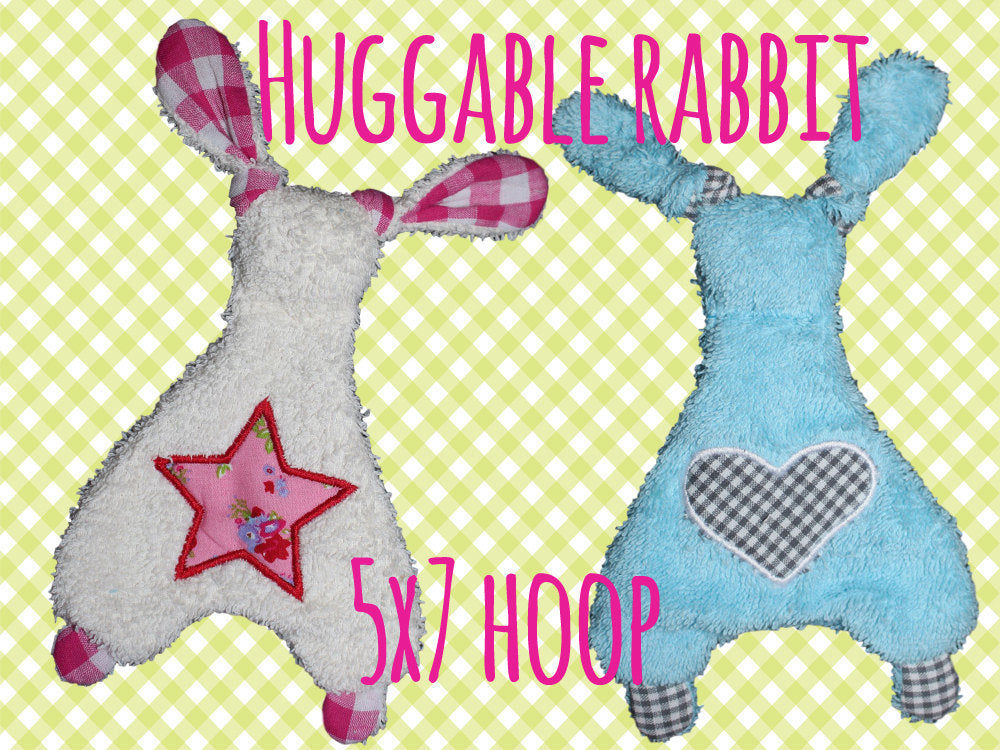 5x7 hoop - Rabbit Baby Toy  - Cute rabbit soft toys - In The Hoop - Machine Embroidery Design File, digital download millymellydesigns