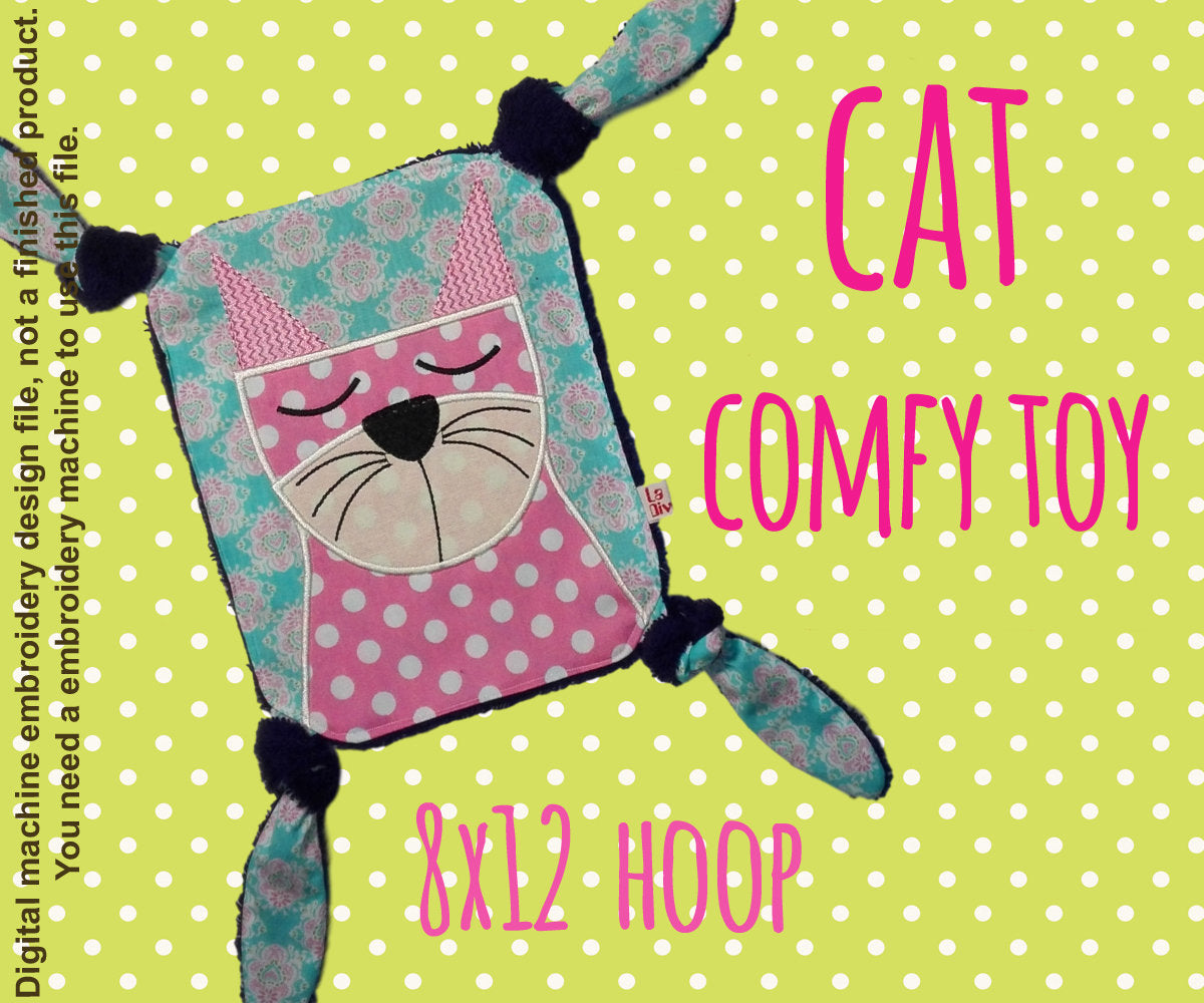 CAT 8x10 hoop - Baby Toy Blanket - ITH - In The Hoop - Machine Embroidery Design File, digital download millymellydesigns