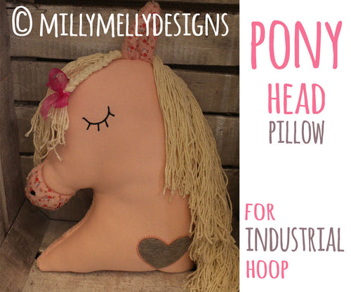 Horse head softie toy - INDUSTRIAL hoop - ITH - In The Hoop - Machine Embroidery Design File, digital download millymellydesigns