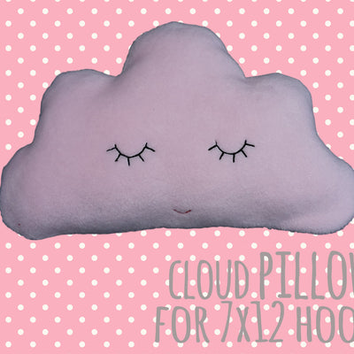 cute CLOUD pillow/soft toy - Set for 7x12 & MEGA hoop - ITH - In The Hoop - Machine Embroidery Design File, digital download millymellydesigns