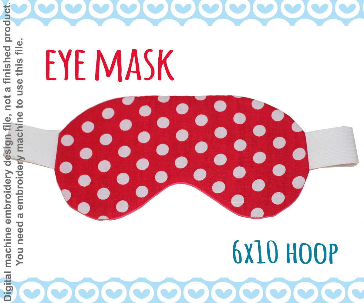 6x10 hoop EYE mask, completely made in ONE hooping! Machine Embroidery Design File, digital download millymellydesigns