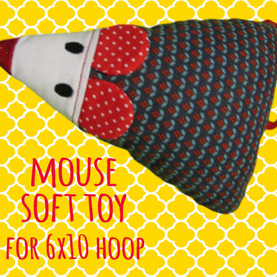 MOUSE SET - 5x7, 6x10, 7x12 and 8x12 hoop - ITH - Soft toy - In The Hoop - Machine Embroidery Design File, digital download millymellydesigns