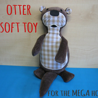 OTTER softie toy - for MEGA hoop - ITH - In The Hoop - Machine Embroidery Design File, digital download millymellydesigns