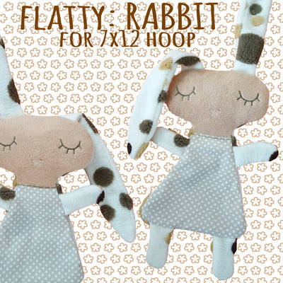 Cute RABBIT soft toy 7x12 hoop, Baby Toy Blanket comfy, toy, stofie, ITH, In The Hoop, Machine Embroidery Design File, digital download millymellydesigns