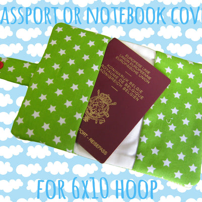 Passport or notebook cover - DOGGY - 6x10 hoop - ITH - In The Hoop - Machine Embroidery Design File, digital download millymellydesigns