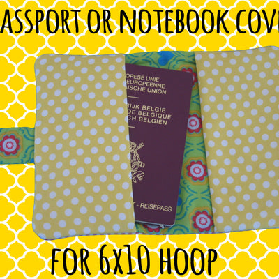 Passport or notebook cover - PONY - 6x10 hoop - ITH - In The Hoop - Machine Embroidery Design File, digital download - millymellydesigns