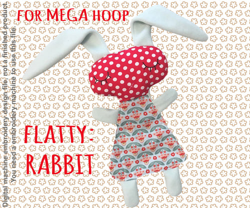 Cute RABBIT soft toy MEGA hoop, Baby Toy Blanket comfy, toy, stofie, ITH embroidery design, digital download millymellydesigns