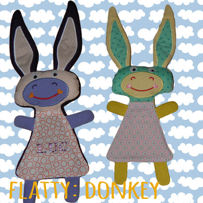 Cute DONKEY soft toy 6x10 hoop, Baby Toy Blanket comfy, toy, stofie, ITH, In The Hoop, Machine Embroidery Design File, digital download millymellydesigns