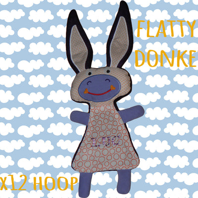 Cute DONKEY soft toy 7x12 hoop, Baby Toy Blanket comfy, toy, stofie, ITH, In The Hoop, Machine Embroidery Design File, digital download millymellydesigns