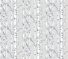 "Organic ""Birch"" White Birch Tree One Drapery Curtain Panel - Cotton and Blackout lining available - tree bark curtain panel rustic woods home decor"