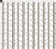 "Organic Cotton ""Birch Tree"" One Curtain Panel - Cotton and Blackout lining available - Nature home decor, Outdoorsy curtains, Lodge, Cottage, Wilderness, Grey, White Forest, Trees"