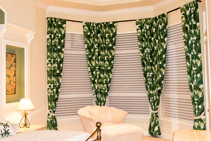 Tommy Bahama Indoor/Outdoor Island Hopping Emerald Drapery One Curtain Panel - Custom made to order quality drapes Weather Proof Resistant