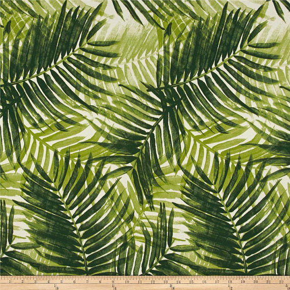 Tommy Bahama Indoor/Outdoor Escape Route Jade Drapery One Curtain Panel - Custom made to order quality drapes Weather Proof Resistant
