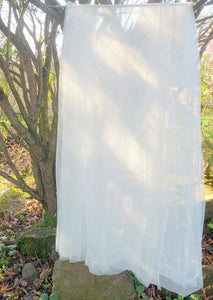 One White Outdoor Curtain Panel - Sheer Net-Lace Garden Rustic Patio Decor Arbor Arch Decor Porch Pergola Drapery Yard Privacy Decoration