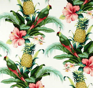 Tommy Bahama Indoor/Outdoor Beach Bounty Lush Green Drapery One Curtain Panel - Pineapple Hibiscus quality drapes Weather Proof Resistant