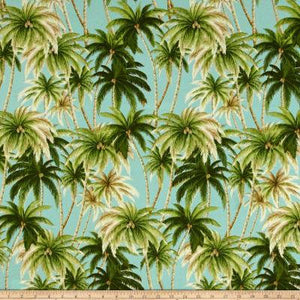 Throw Pillow Cover -Tommy Bahama Indoor/ Outdoor Artisan Palms Seaspray Designer Pillows. Square covers Palm trees. Island Beach house Blues