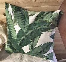 Throw Pillow Cover -Tommy Bahama Indoor/ Outdoor Swaying Palms Aloe Designer Pillows. Square covers. Palm leaves. Island Decor. Beach house