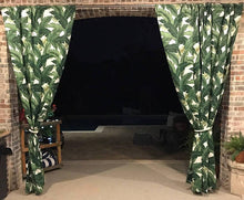 Tommy Bahama Indoor/Outdoor Swaying Palms Aloe Green Drapery. One Curtain Panel - Custom made to order quality drapes Weather Proof/Resistant. Tropical