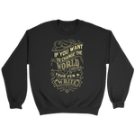 Change the World (Yellow) Sweatshirt (6 colors)-T-shirt-LutheranPub.com