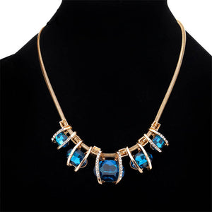 Vintage Exquisite Rhinestone Crystal Necklace